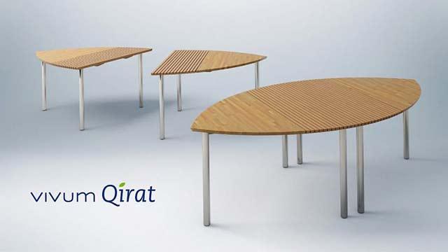 """Produktdesign Tisch """"vivum Qirat"""""""