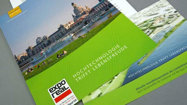 Dresden auf der Expo Real 2009 - Pressearbeit & Anzeigen
