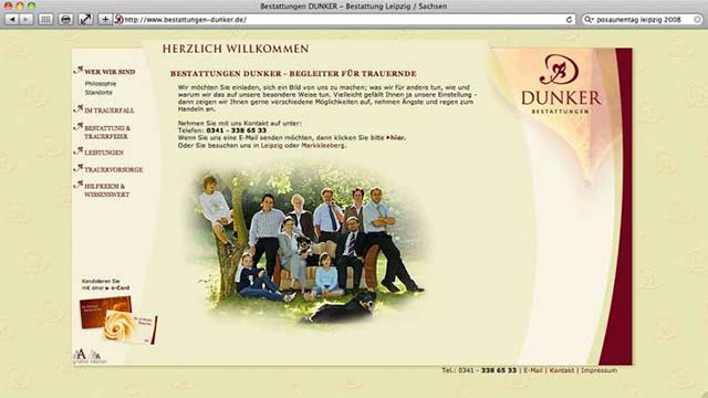 Bestattungen Dunker Website