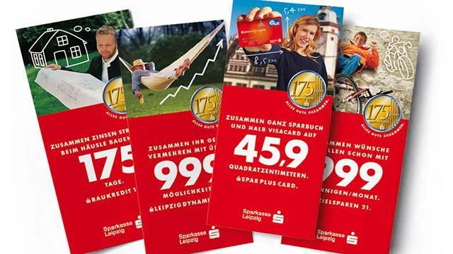 """Sparkasse Leipzig Produktkampagne """"175 Jahre"""""""