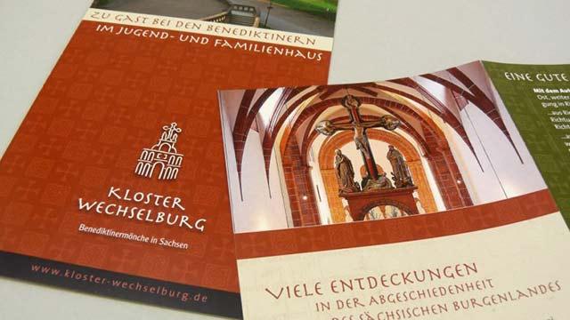 Kloster Wechselburg mit neuen Flyern