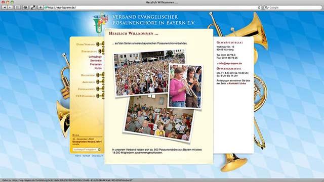 VEP-Bayern Website