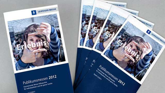 """Leipziger Messe Flyer """"Publikumsmessen 2012"""""""