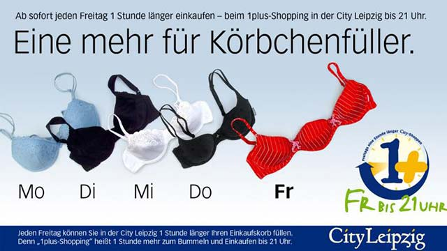 "City Leipzig Kampagne ""1Plus Shopping"""
