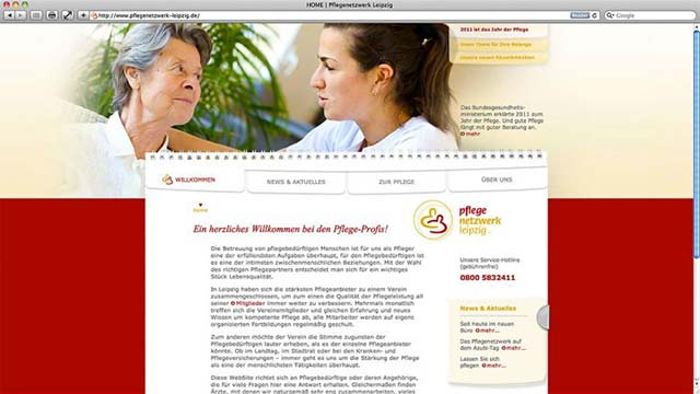 Pflegenetzwerk Leipzig Website