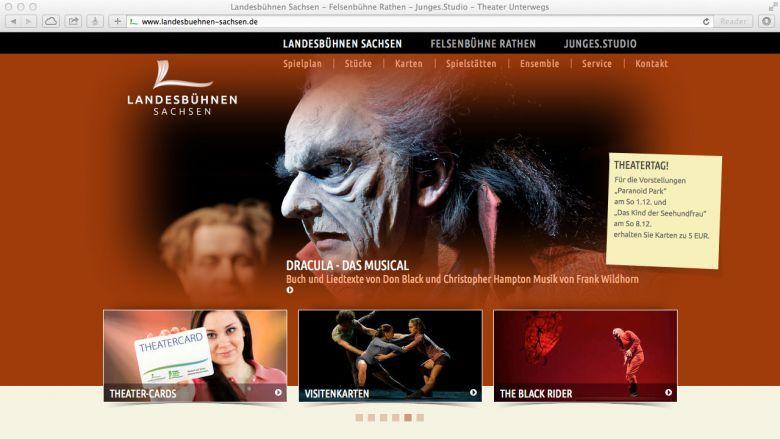 Website der Landesbühnen Sachsen
