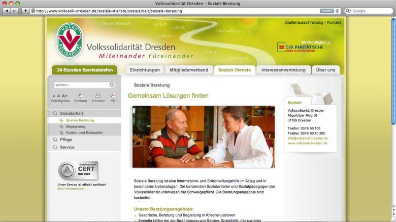 Volkssolidarität Website
