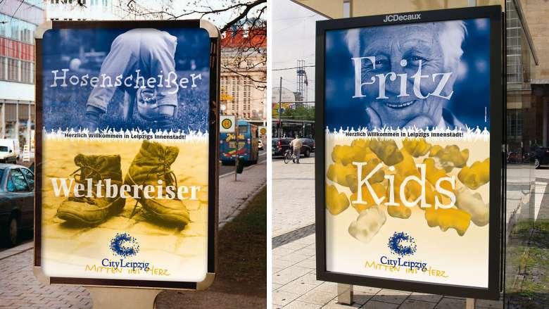 "City Leipzig Kampagne ""Willkommen"""