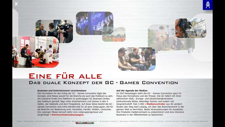 Games Convention 2008 interaktives Ausstellermailing