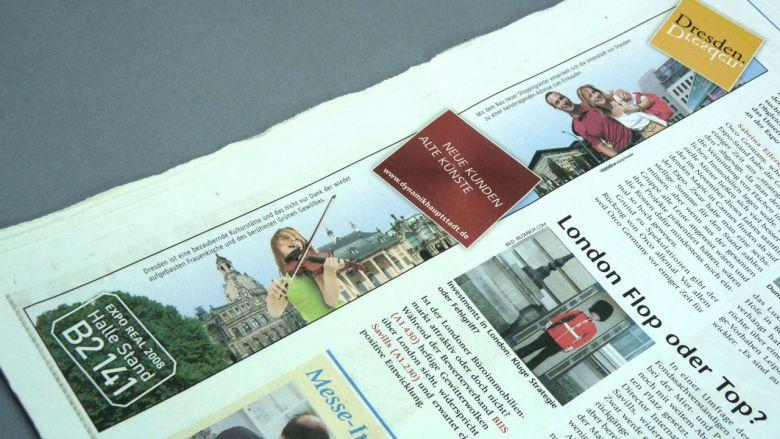Dresden auf der Expo Real 2008 - Anzeigen & Presse