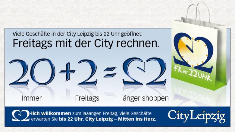 """City Leipzig Anzeige """"22 Uhr"""""""