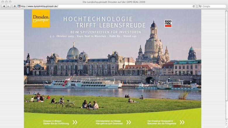 Dynamikhauptstadt Dresden Website