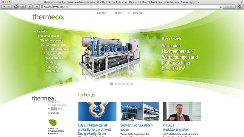 Website für thermeco₂ Wärmepumpen