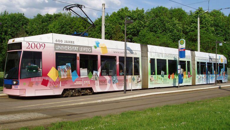 600 Jahre Uni Leipzig Straßenbahn