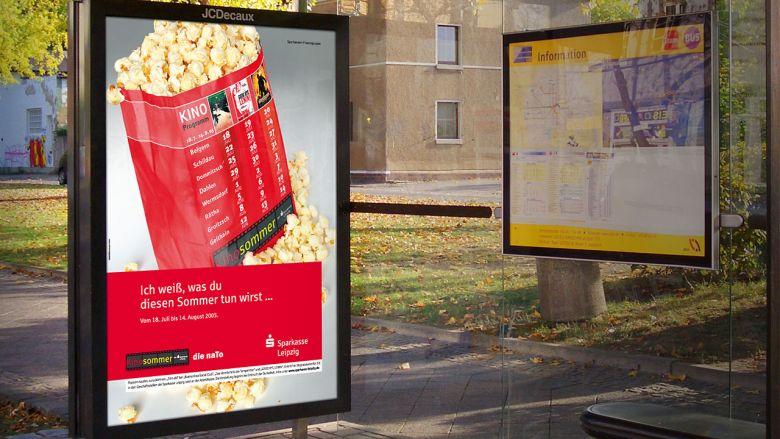 """Sparkasse Leipzig Kampagne """"Kinosommer"""""""