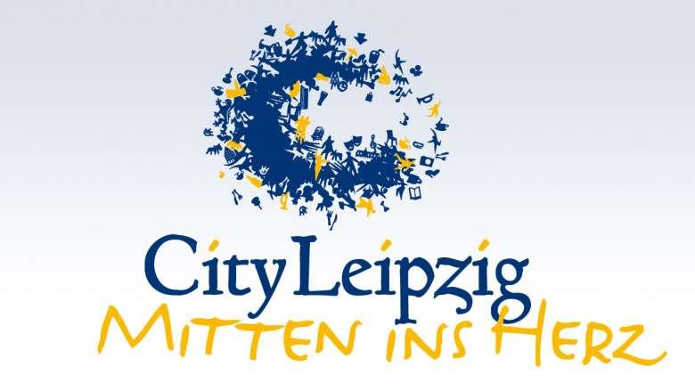 """City Leipzig Logoentwicklung """"Mitten ins Herz"""""""