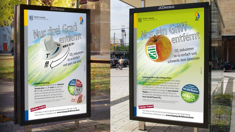 "Stadt Leipzig Kampagne ""CO₂-Sparen"""