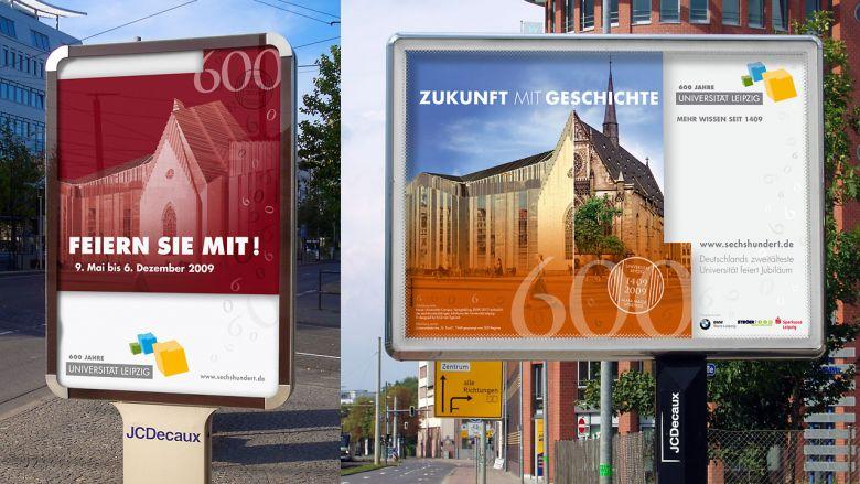 600 Jahre Uni Leipzig Poster Kampagne
