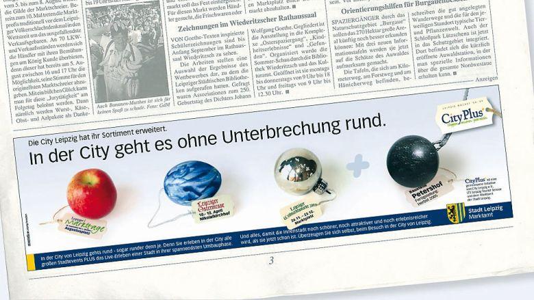 """City Leipzig Kampagne """"Bauboom"""""""