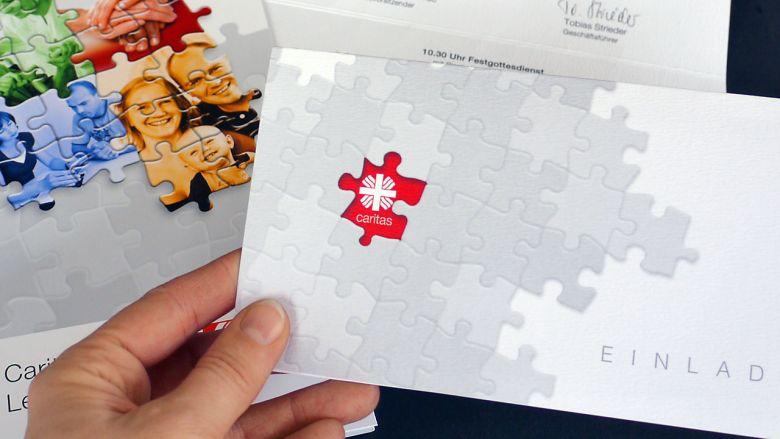 Caritas Leipzig Einladung & Mappe