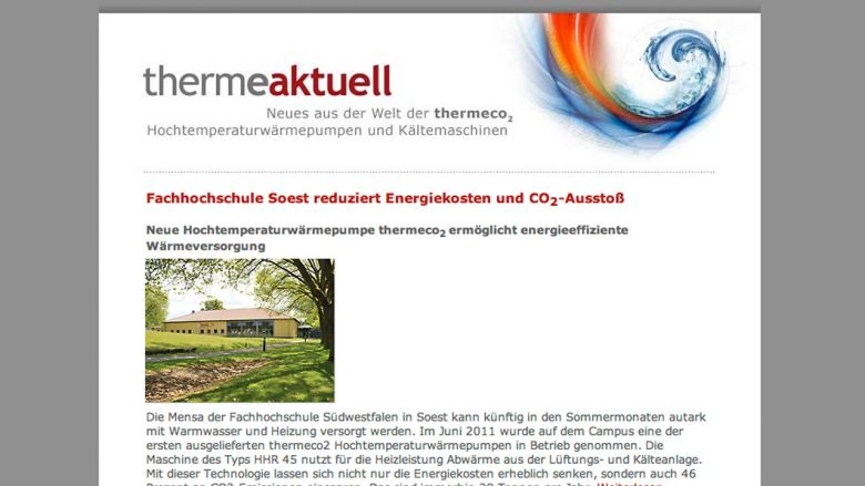 thermea. Newsletter