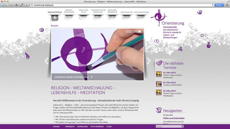 """WebSite """"Orientierung"""""""