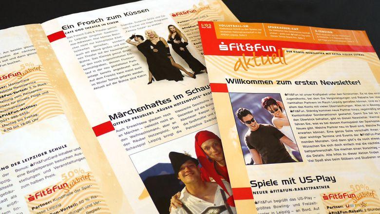 "Sparkasse Leipzig  Newsletter ""fit&fun aktuell"""