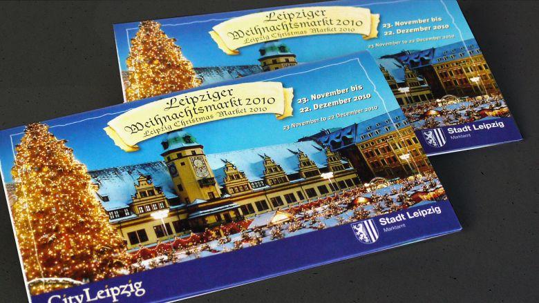 """City Leipzig Flyer & CityPlusPunkt """"Weihnachten 2010"""""""