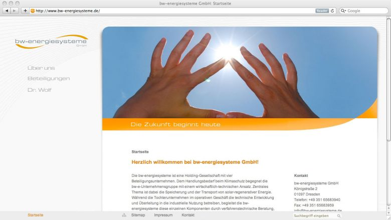 bw-Energiesysteme Website