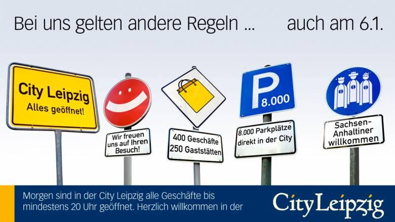 """City Leipzig Anzeige """"3 Könige"""""""
