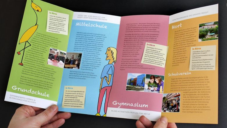 Flyer Montessori-Schulzentrum