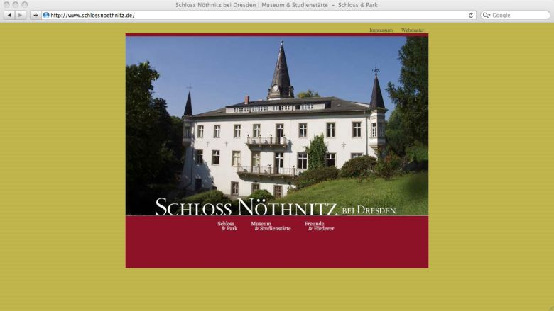 Schloss Nöthnitz Website