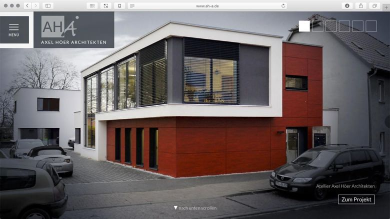 WebSite für Axel Höer Architekten